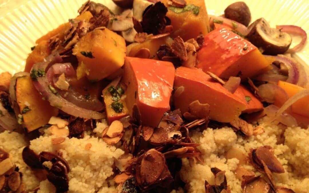 Herfstige couscous met pompoen