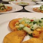 Pompoenmenu: geroosterde pompoen met appelsalsa