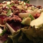 Salade met andijvie, venkel, kikkererwten en quinoa