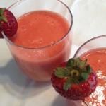 Rabarber-aardbei smoothie