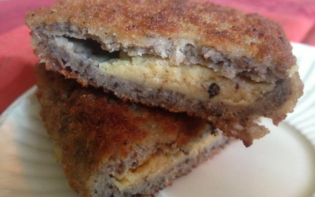 Vleesvervanger getest: champignon cordon bleu met humus Koolen