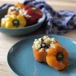 Vega budget: gevulde paprika's met couscous