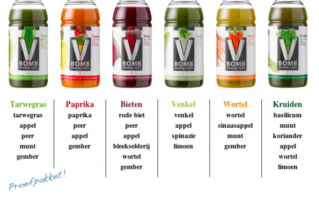V Bomb: veggie juices