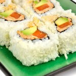 Vega sushi: Spicy Carrot Urumaki