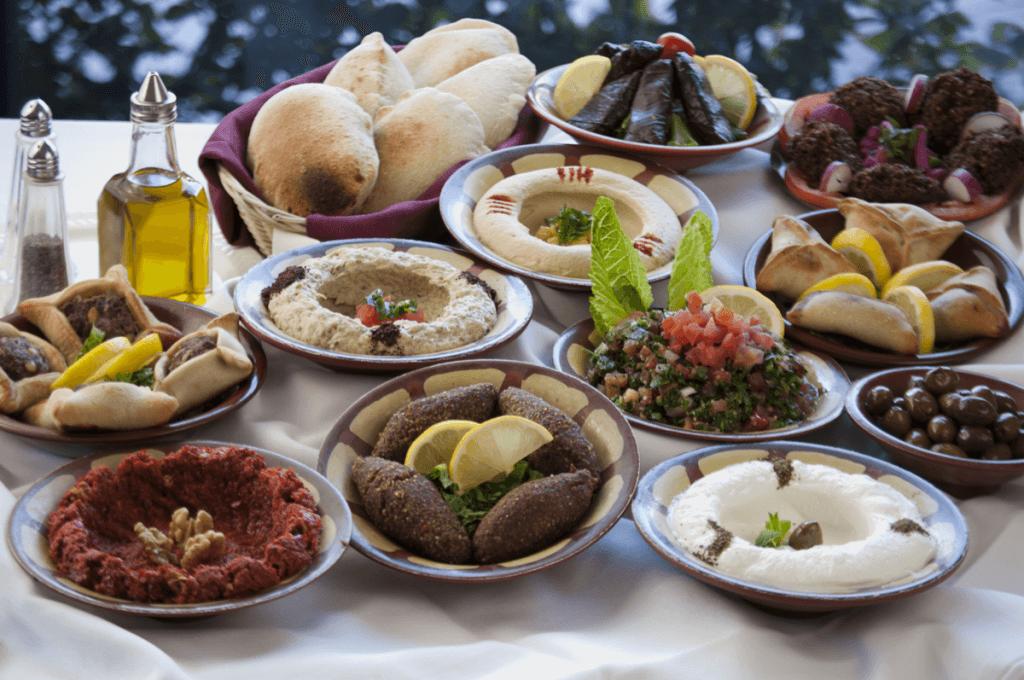 De Libanese keuken: vegetarische Mezzes en restaurant Nomads