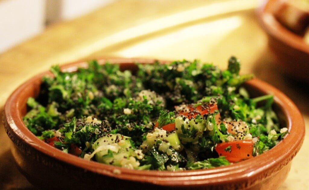 libanees recept voor vegetarisch tabouleh