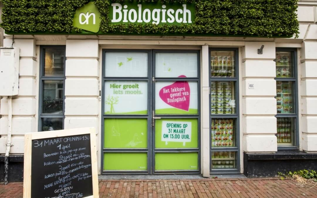 Opening: bio pop-up store Albert Heijn