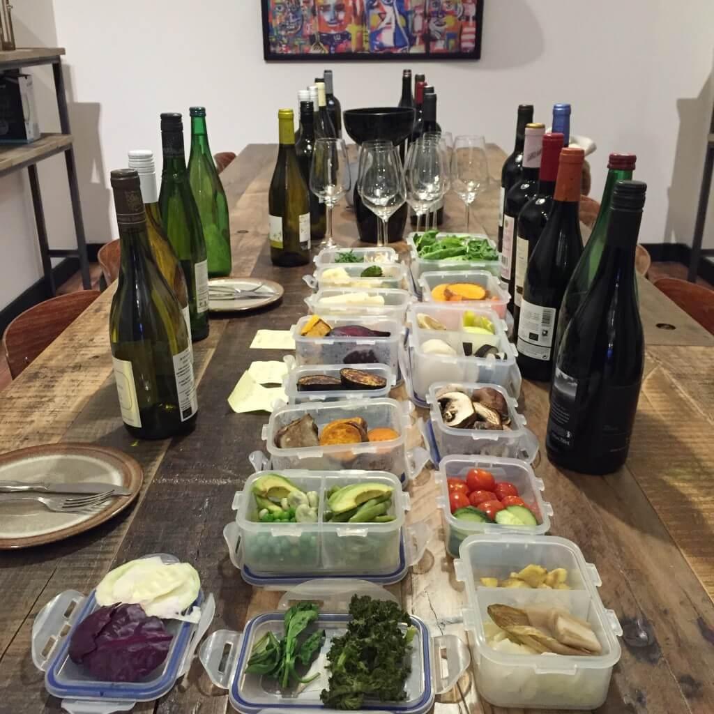 Wijn & groente proeverij