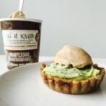 Kerstmenu: limoen-avocado taartjes met vegan koffie-ijs