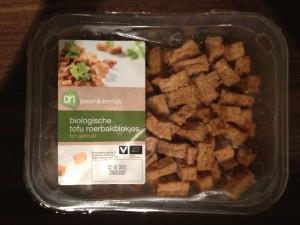 Onder de loep - vleesvervangers - AH biologische tofu roerbakblokjes