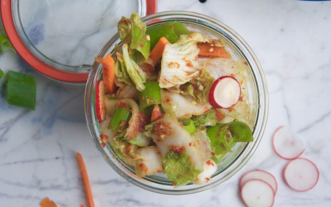 Snelle vegan Kimchi