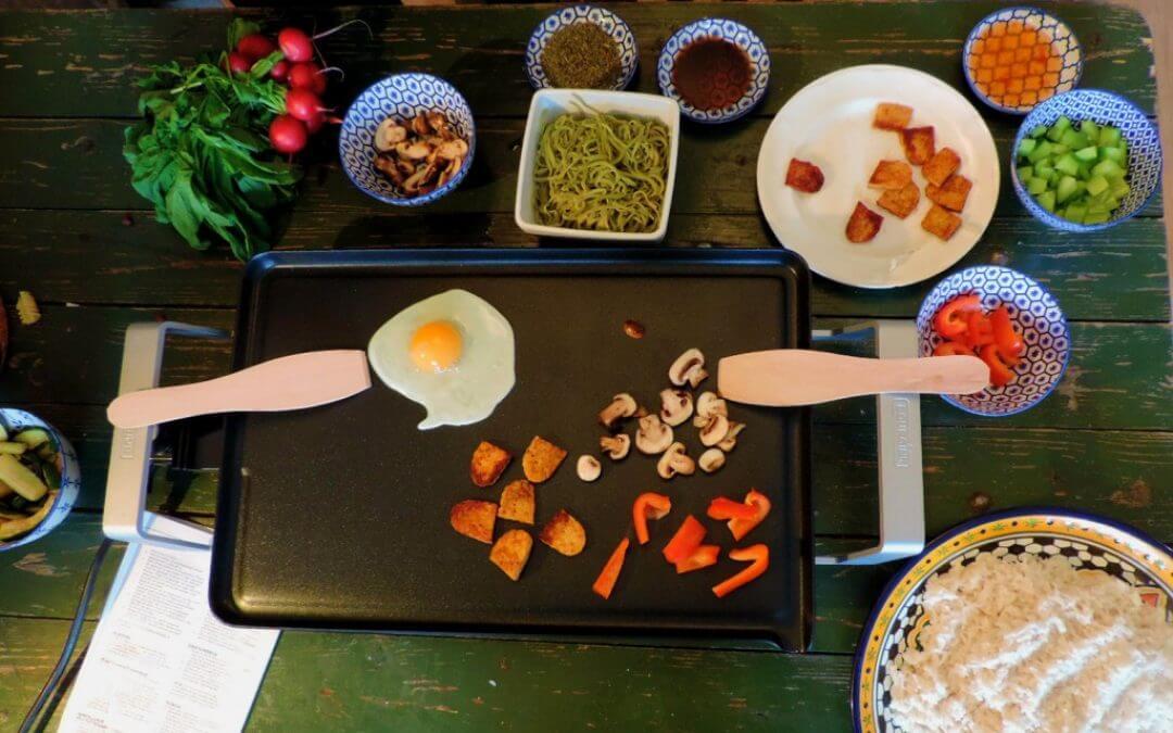 Vegetarische Indische rijsttafel