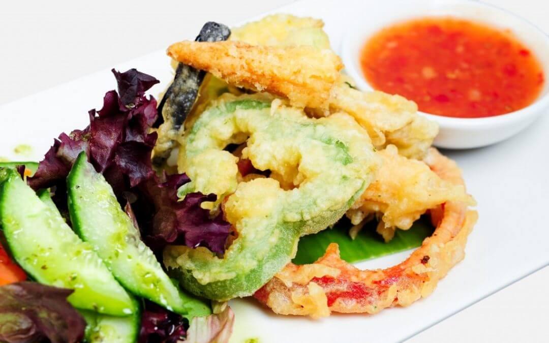 Groente tempura uit de oven