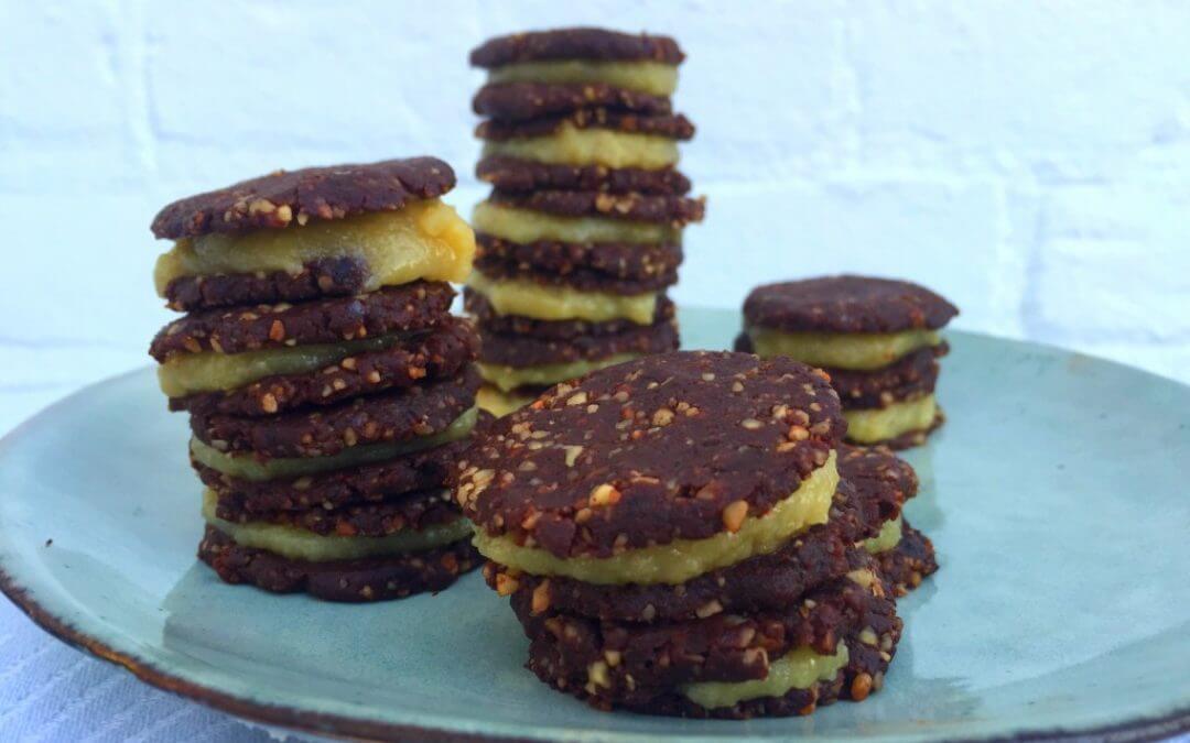 Gezonde vegan Oreo koekjes