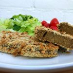 Seitan steak met notencrumble korst