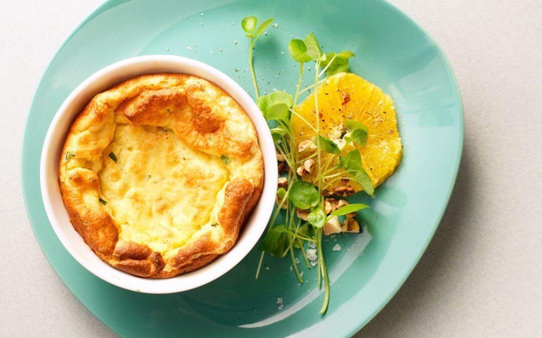 Mini soufflé met Remeker kaas