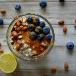 Overnight oats: Blauwe bessen met citroen