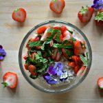 Overnight oats: Aardbei met munt