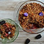 Coconut berry crumble