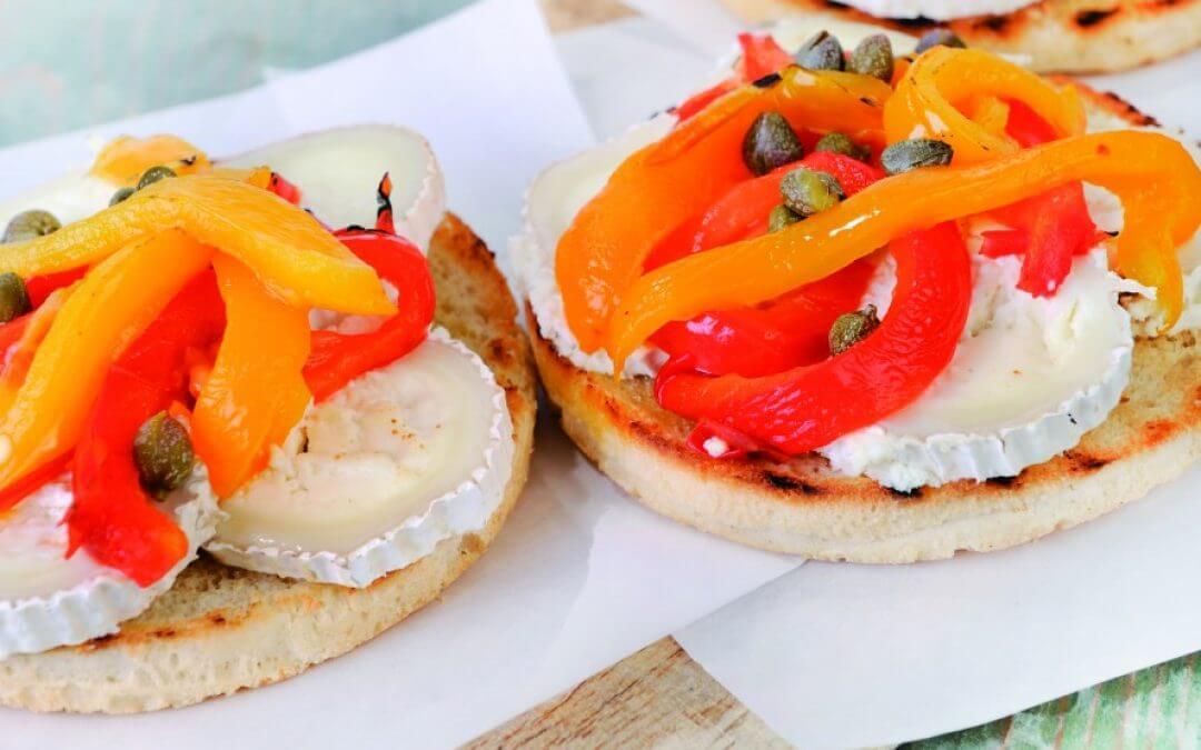 Vegetarische barbecue: panini met geitenkaas
