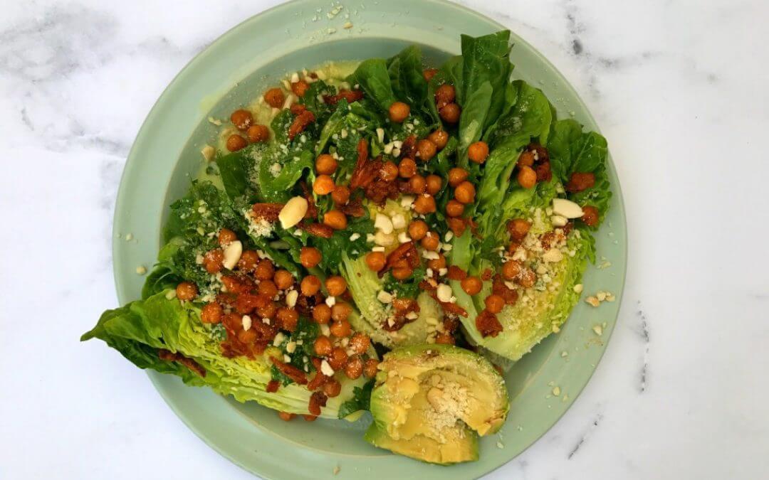 Vegan Caesar Salade 2.0 + UITDAGING!