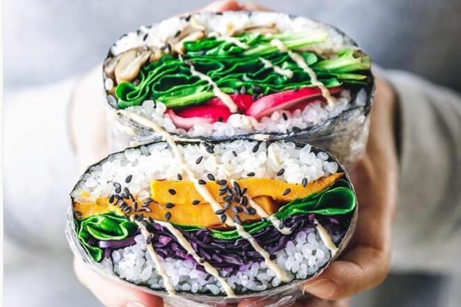Instagram trend: Sushi Sandwich