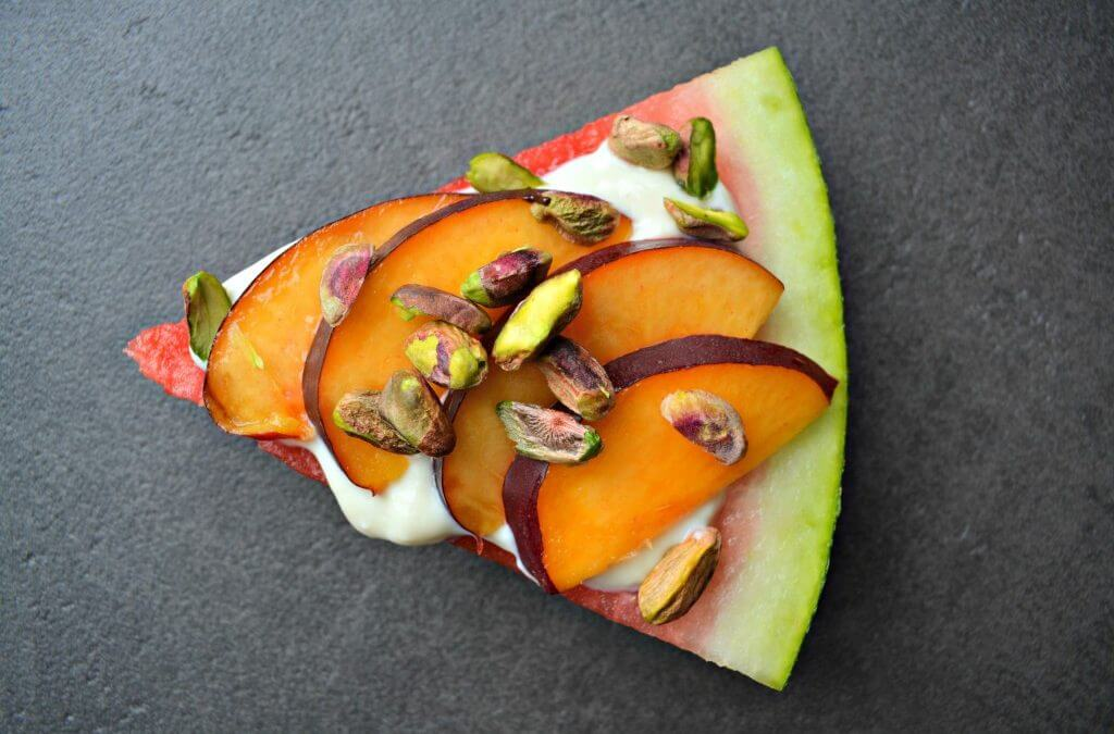 TRENDING: Watermeloen pizza nectarine & pistache