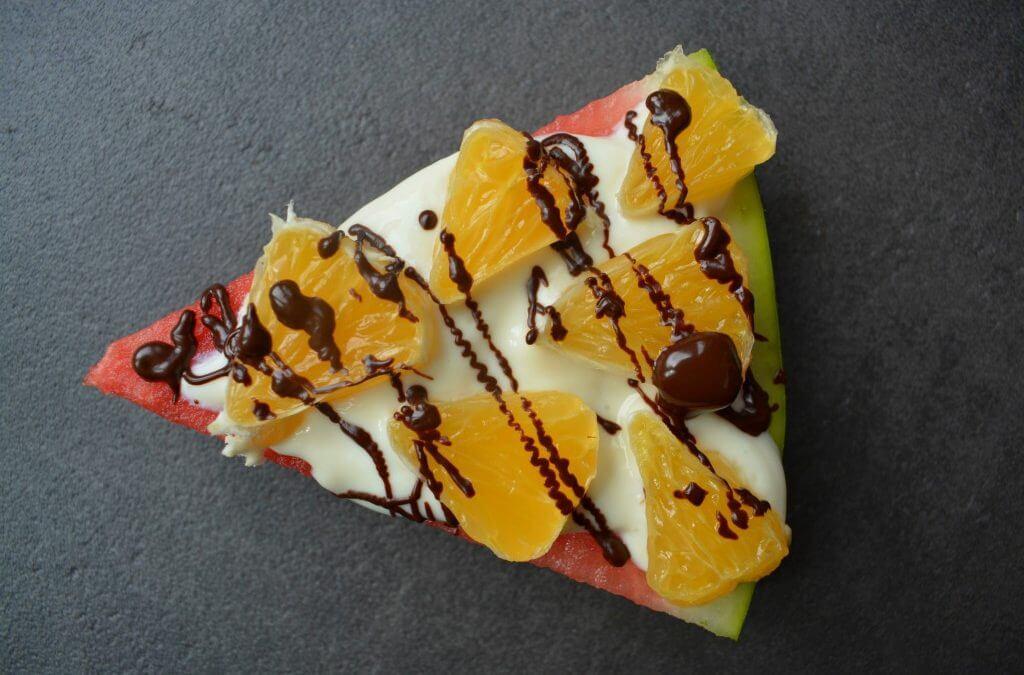 TRENDING: Watermeloen pizza sinaasappel & chocolade