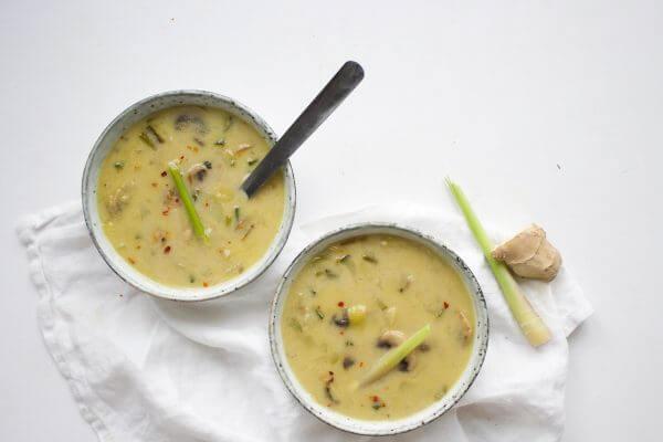Vegetarische Tom Kha soep