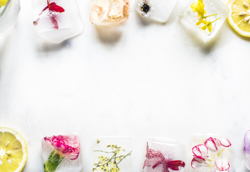 Instagram trend: Flower Ice Cubes