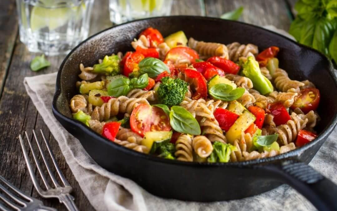 Snelle pasta: groenterestjes