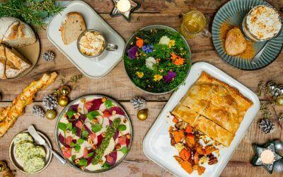Vegetarische kerstbox: 4 gangen diner in één keer in huis