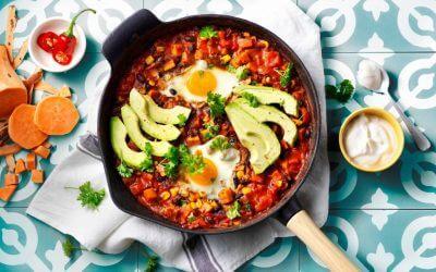 TASTY & EASY: Mexicaanse stoofschotel met zoete aardappel