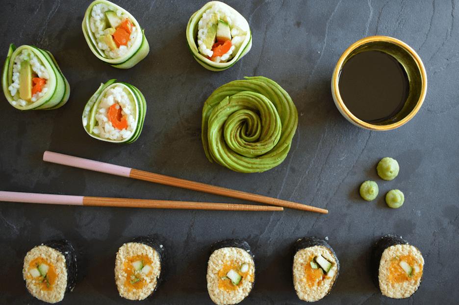 TRENDING: Vegan sushi met pastinaakrijst en pompoen