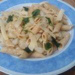 Snelle pasta: met aardpeer en tijm