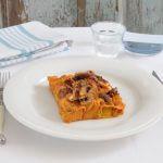 Gevulde cannelloni met pompoen, kastanjes en geitenkaas