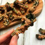 Vegan tempura van bimi en walnoot