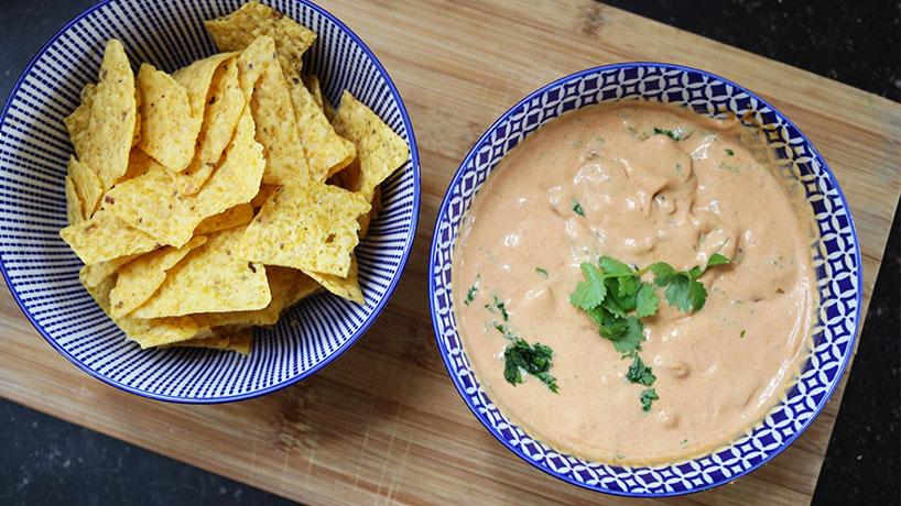Vega borrel in 15 min: salsa dip + WIN