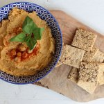Vega borrel in 15 min: pompoen hummus + WIN
