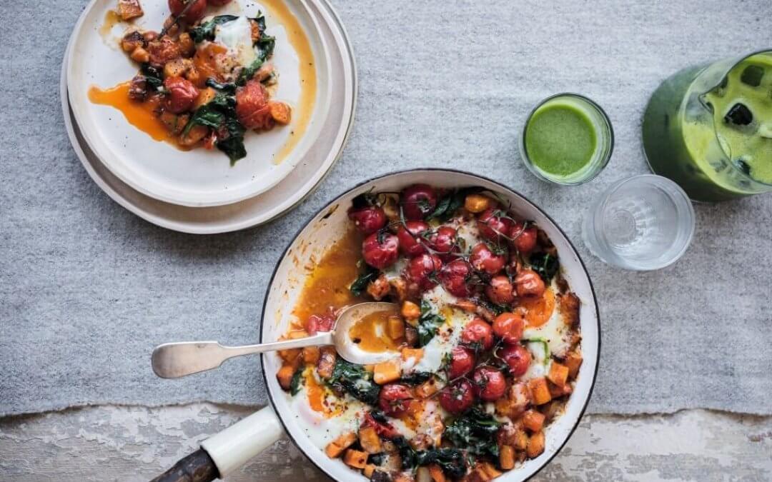 Eat Happy: Feestontbijt met eieren, tomaatjes, pompoen en kaas