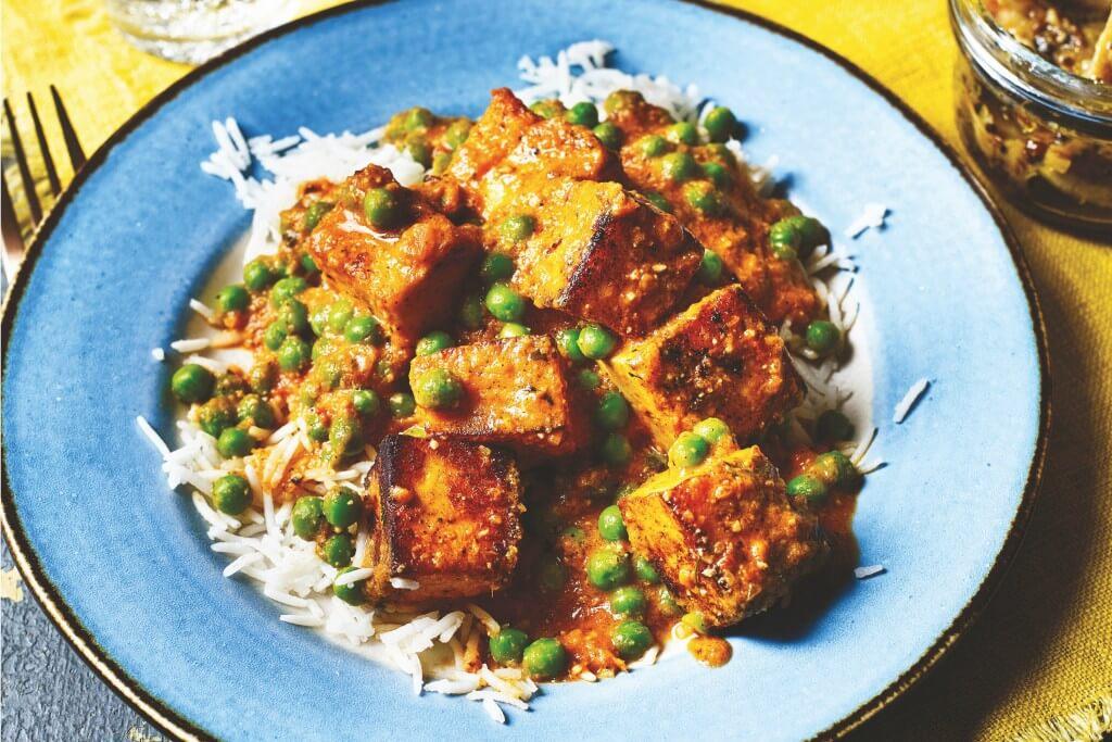 Indiase keuken: Muttar paneer