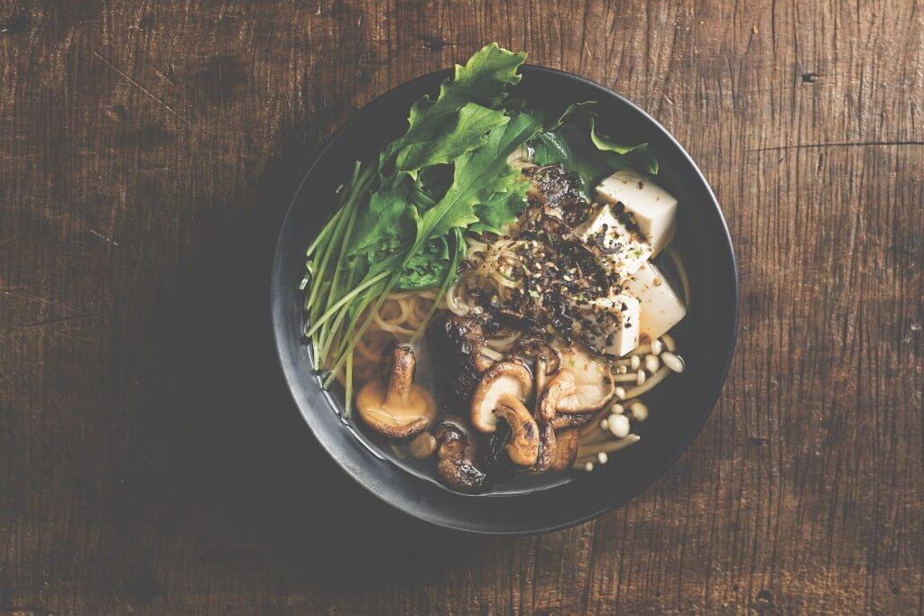 Japanse keuken: Paddenstoelen-tofuramen