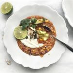 Pittige gevulde taco soep