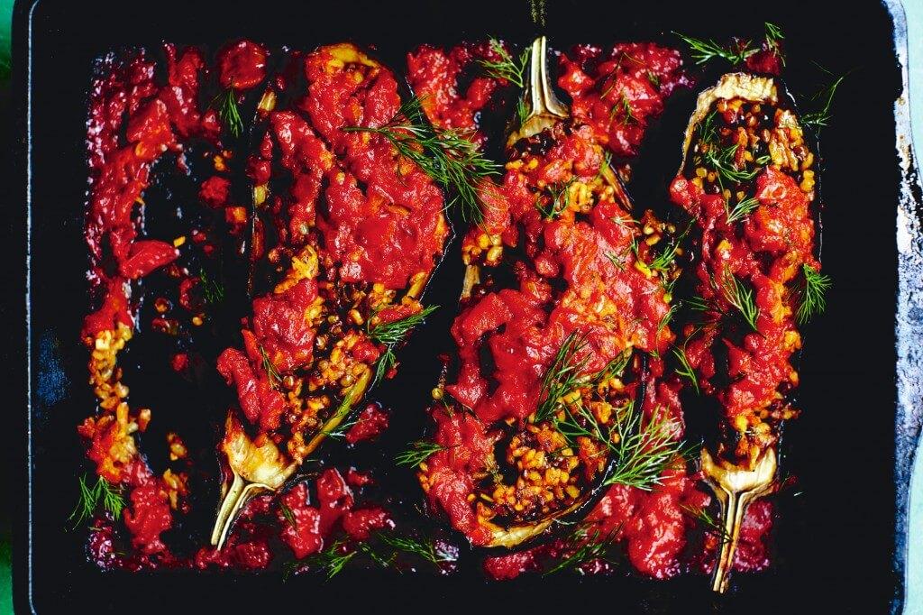De Perzische keuken: Gevulde aubergines