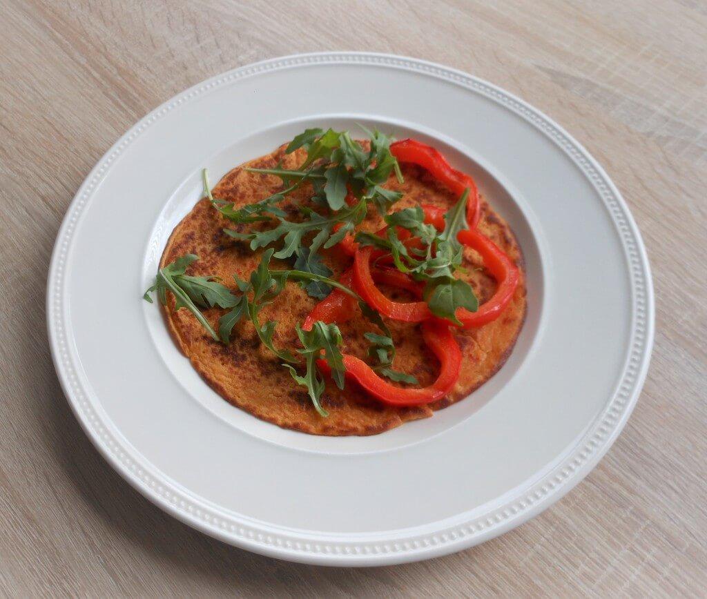 Vega vleesklassieker: paprika-kikkererwten pannenkoeken
