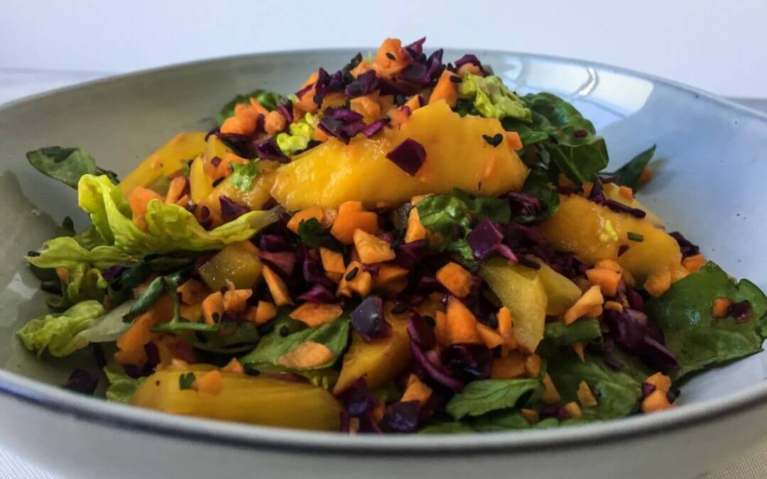 Snelle Oosterse jackfruit salade