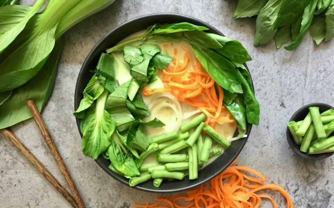 Thaise groene curry ramen