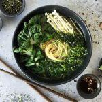 Japanse vegan kombu dashi ramen