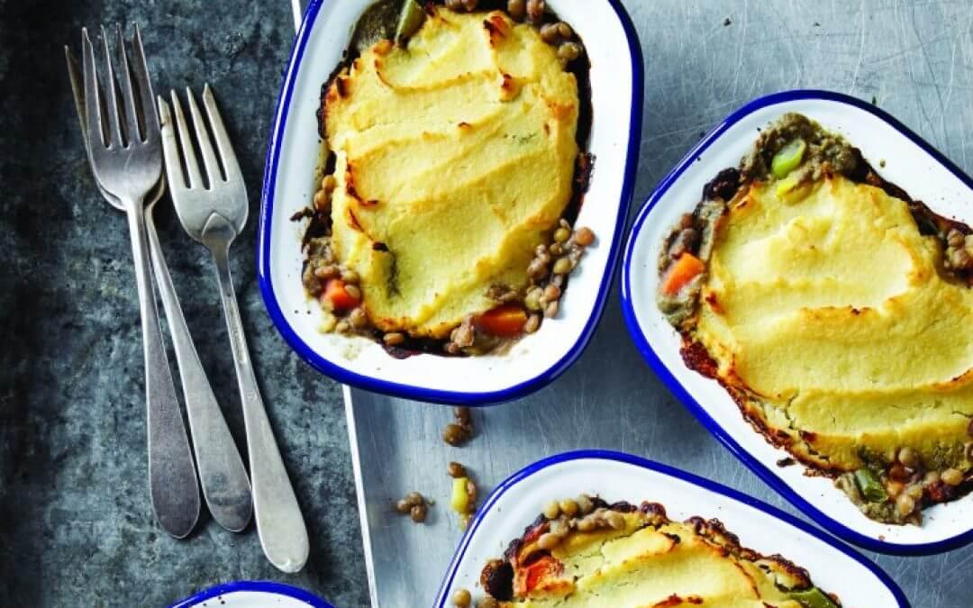 Vegan Shepherd's pie met linzen