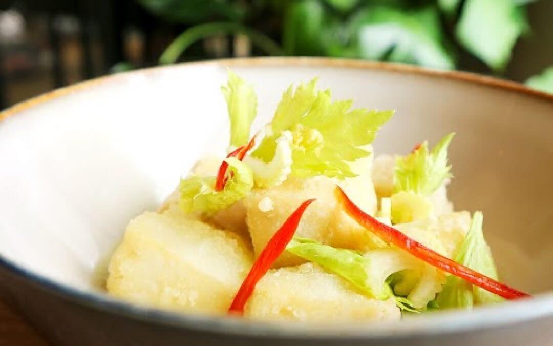 Indonesische keuken: gebakken tofu